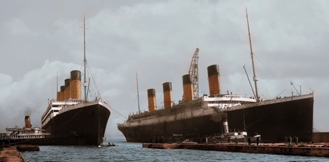 RMS Olympic y RMS Titánic